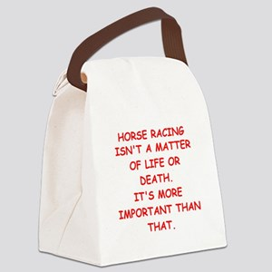 HORSERACING Canvas Lunch Bag