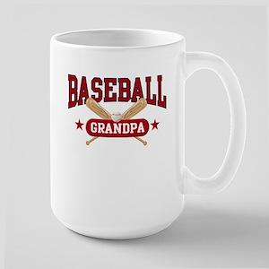 Baseball Grandpa Large Mug