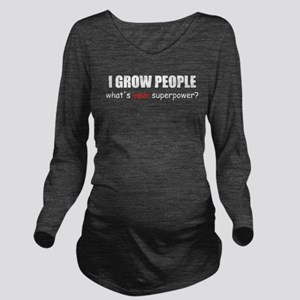 i grow peo blck Long Sleeve Maternity T-Shirt