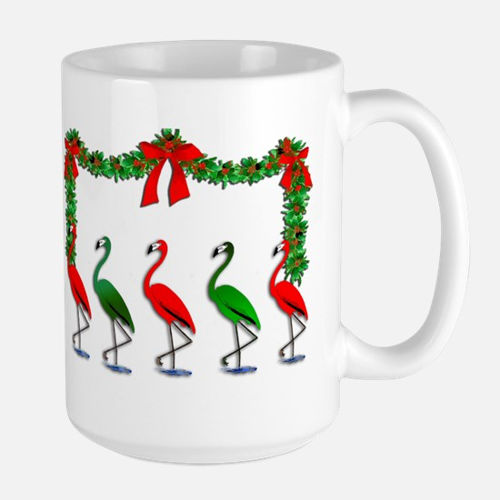 Xmas Flamingo Rockettes Mugs