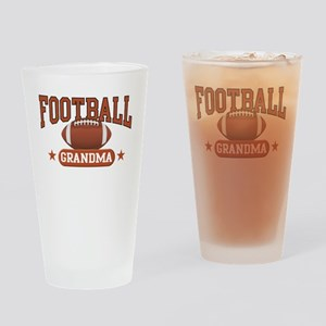 Football Grandma Drinking Glass