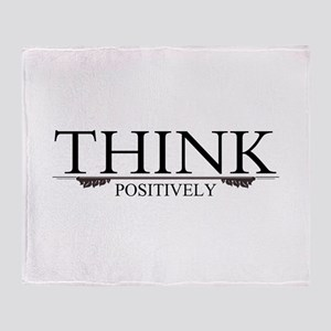 Think Positively Throw Blanket