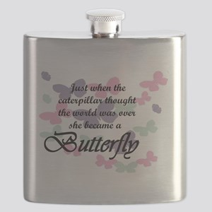Inspirational Butterfly Flask