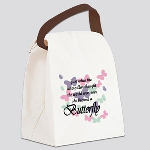 Inspirational Butterfly Canvas Lunch Bag