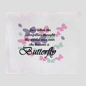 Inspirational Butterfly Throw Blanket
