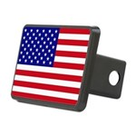 US Flag Rectangular Hitch Cover