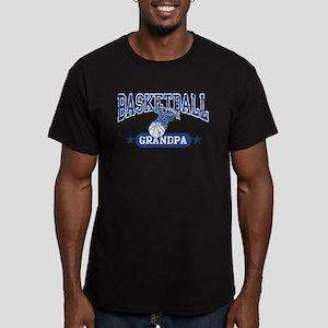 Basketball Grandpa Men's Fitted T-Shirt (dark)