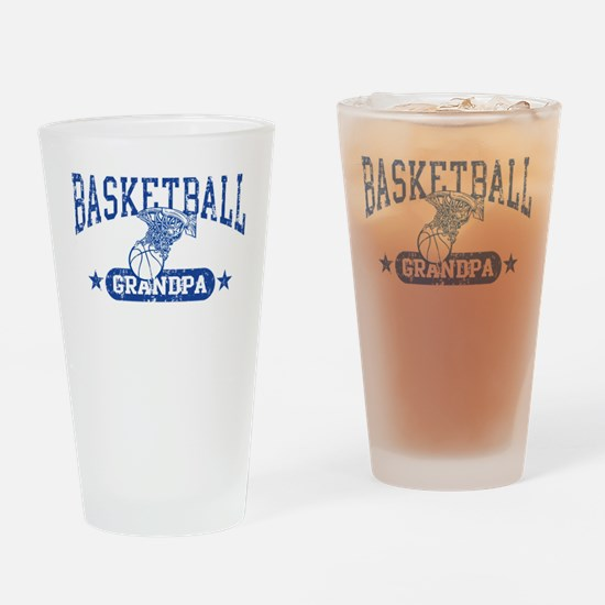 Basketball Grandpa Drinking Glass