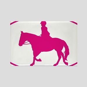 English_Horse_Pink Rectangle Magnet
