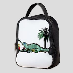 Xmas Gator Gift Neoprene Lunch Bag