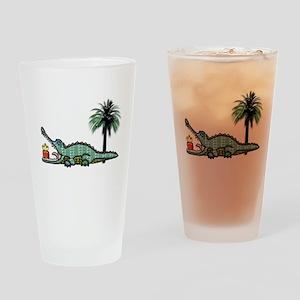 Xmas Gator Gift Drinking Glass