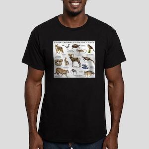 Animals of Death Valley Men's Fitted T-Shirt (dark