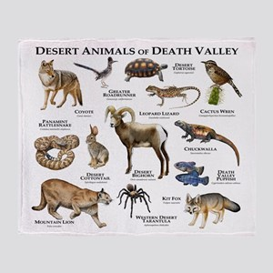 Animals of Death Valley Throw Blanket