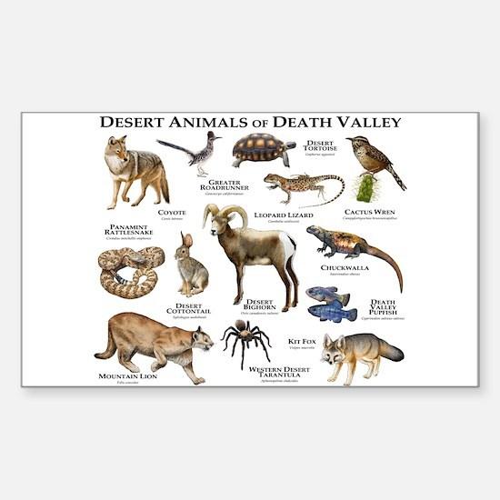 Animals of Death Valley Sticker (Rectangle)