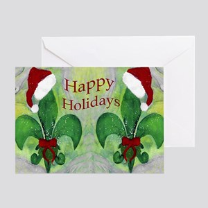 Cajun christmas greeting cards cafepress santa christmas fleur de lis greeting card m4hsunfo