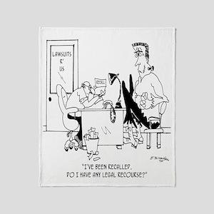 Frankenstein is Recalled Throw Blanket
