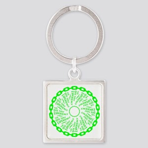 The Disc Golf Experience Square Keychain