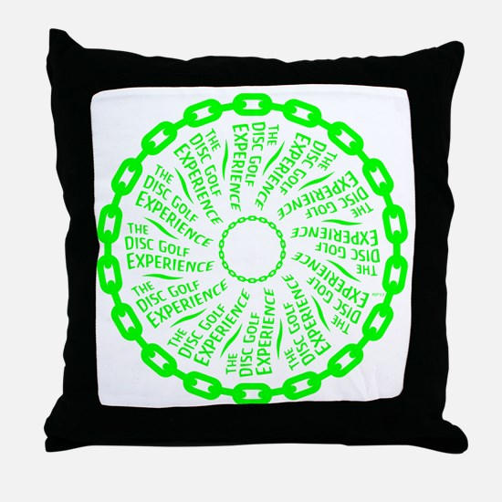 The Disc Golf Experience Throw Pillow