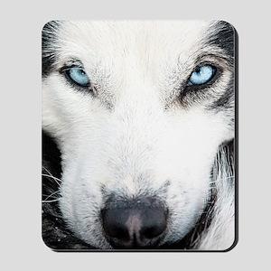 Blue Eyed Husky Mousepad