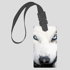 Blue Eyed Husky Large Luggage Tag