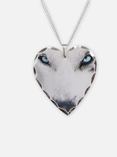 Blue Eyed Husky Necklace