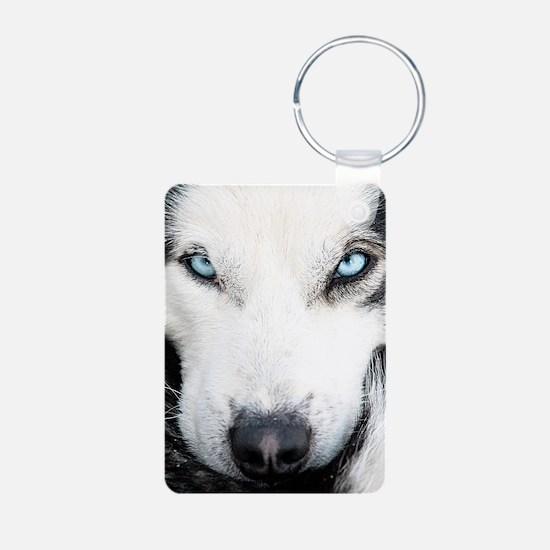 Blue Eyed Husky Keychains
