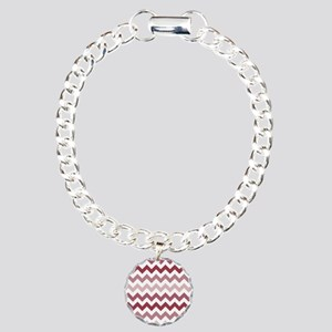 Shades of Mauve Chevron  Charm Bracelet, One Charm