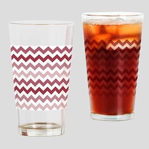 Shades of Mauve Chevron Pattern Drinking Glass