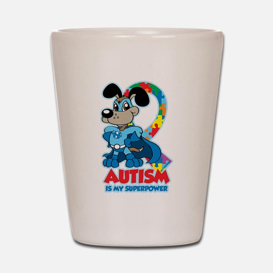 Autism Is My Super Power Shot Glass