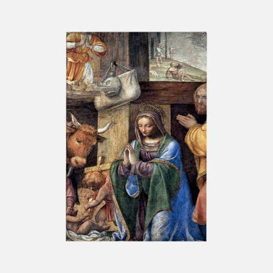Nativity and Annunciation to the  Rectangle Magnet