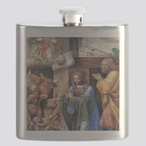 Nativity and Annunciation to the Shepherds b Flask