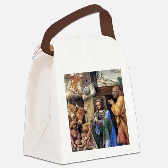Nativity and Annunciation to the  Canvas Lunch Bag