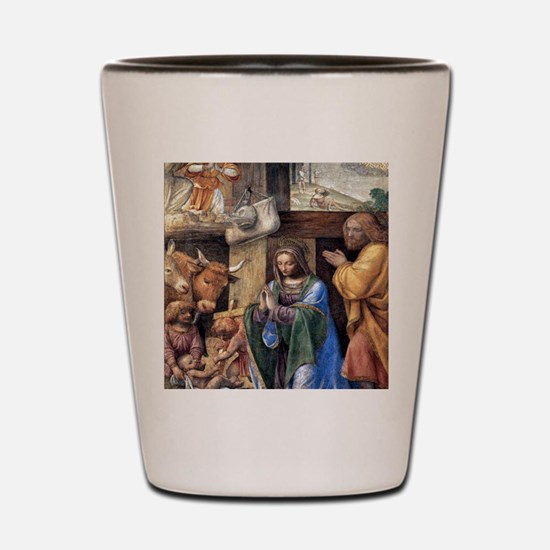 Nativity and Annunciation to the Shephe Shot Glass