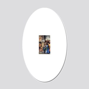 Nativity and Annunciation to 20x12 Oval Wall Decal