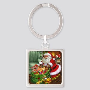 Santa Claus! Square Keychain