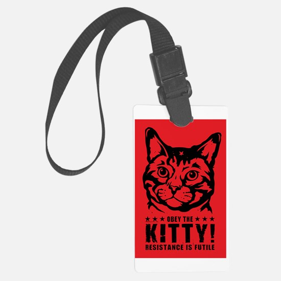 che_kitty_lg Large Luggage Tag