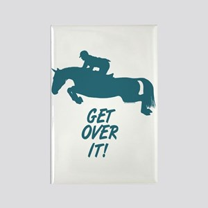 get over it horse Rectangle Magnet