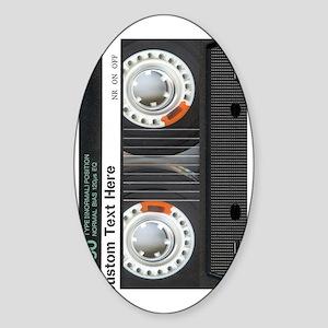 Custom Retro Cassette Sticker (Oval)