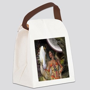 Native Beauty Canvas Lunch Bag
