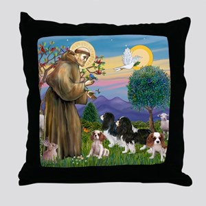 11x14-B - StFrancis-4Cav-Kevins-REV4- Throw Pillow