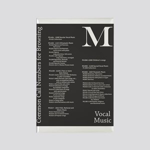 M: Vocal Music Rectangle Magnet