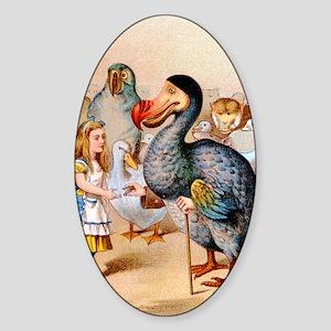Alice  the Dodo_10x14 Sticker (Oval)