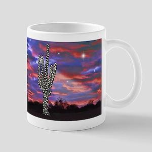 Christmas Lights Saguaro Cactus Silhouette copy Mu