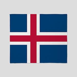 Icelandic Flag Throw Blanket