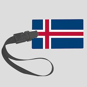 Icelandic Flag Luggage Tag