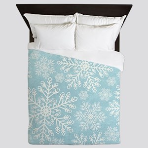 Winter Snowflakes Queen Duvet