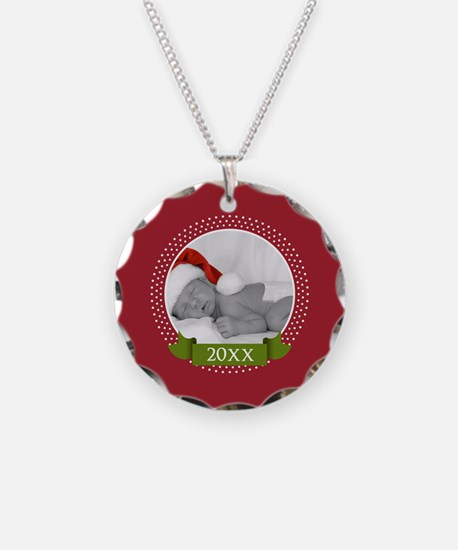 Photo Frame with Year Red Necklace