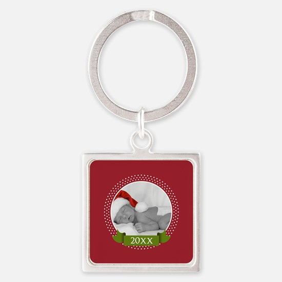 Photo Frame with Year Red Keychains