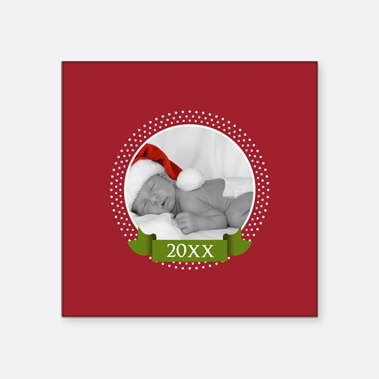 Photo Frame with Year Red Sticker