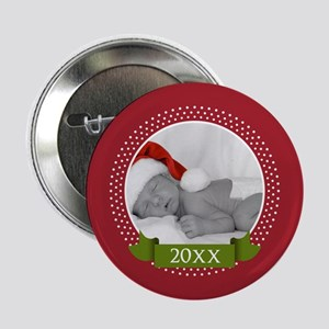 "Photo Frame with Year Red 2.25"" Button"